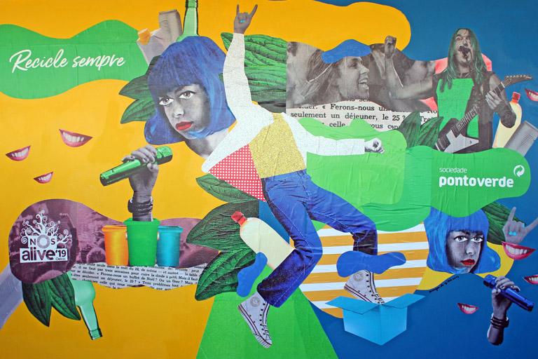 Mural Art, Sociedade Ponto Verde / NOS Alive 2019 Music Festival