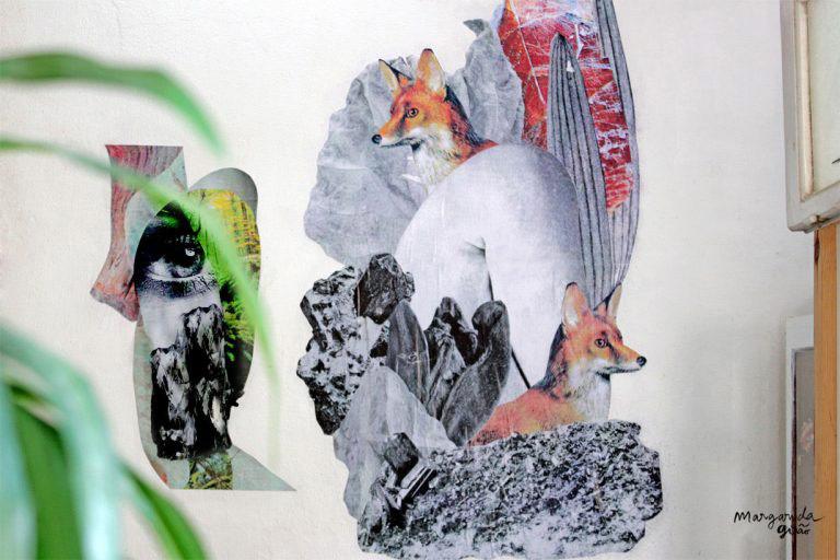 Wheatpaste Collage Art